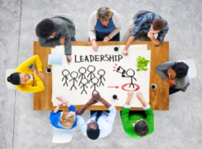 People in a Meeting and Leadership Concept